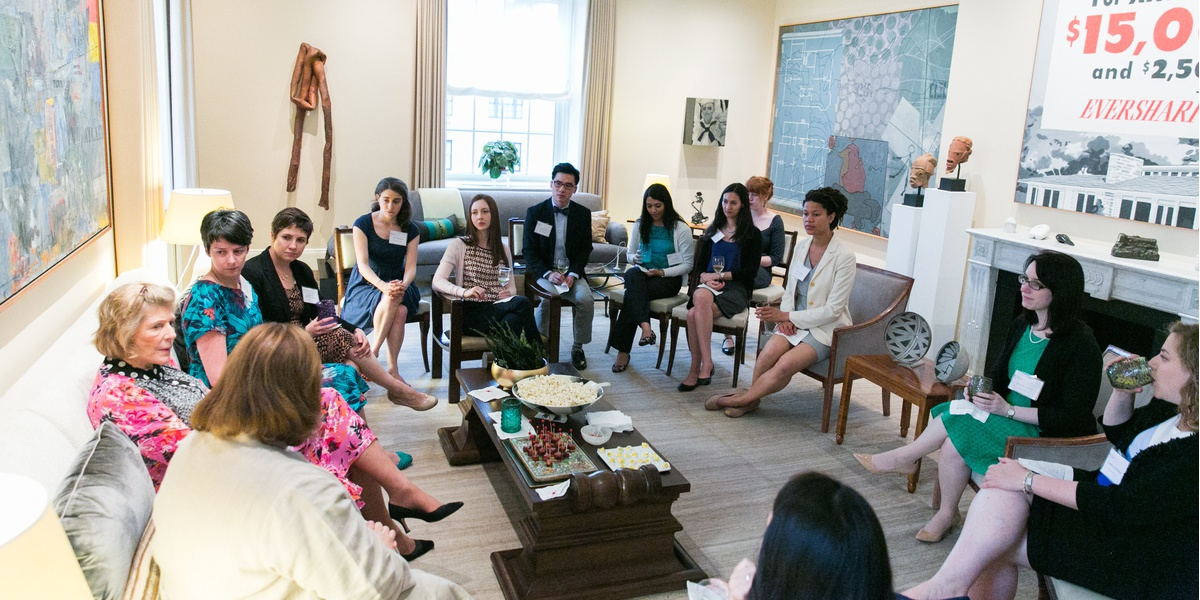 2015 Mellon visit to Agnes Gund's residence